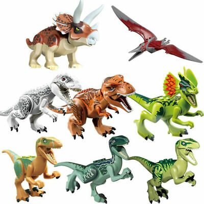 Hot Sale 8PCS  Indominus Dinosaur Rex Full Size Figure Building Blocks Fit Lego • 7.93£