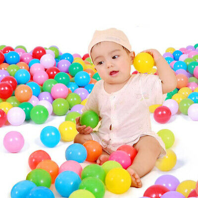 100 Ball Pit Balls Kids Plastic Baby Ocean Ball Toy Colourful Playpen Toy UK • 6.39£