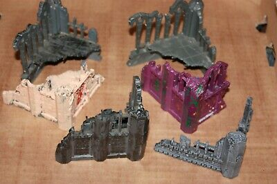 6 X Set Of Warhammer 40k Gothic Ruin Scenery Pieces Citadel Terrain  • 25£