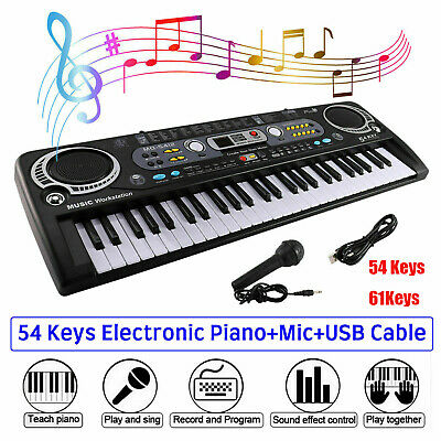 Musical Keyboard Piano 54/61keys Electronic Electric Digital Beginner Adult Gift • 12.19£