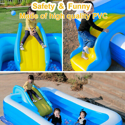 Inflatable Water Slides For Kids Backyard Summer Water Party Water Slides Gift • 52.99£