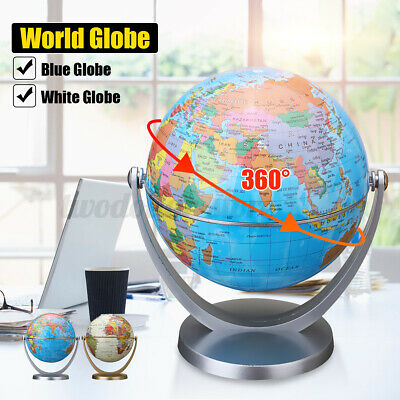 360° Rotating World Globe Earth Map Kids Children Bedroom Decoration With Stand • 7.89£