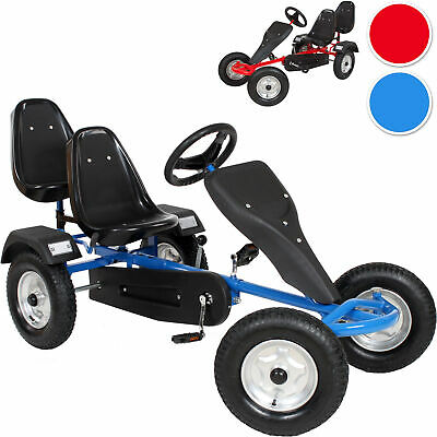 Go Kart Pedal 2 Seater Ride On Car Rubber Tires New • 257.95£