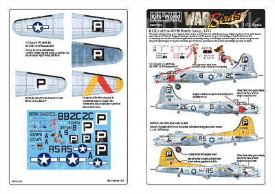 Kits-World Decals 1/72 Boeing B-17G Flying Fortress # 72232 • 8.90£