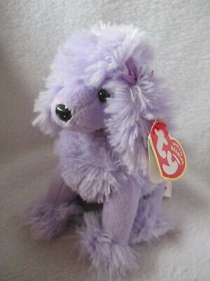 TY Beanie Babies Dog Purple Poodle Demure • 6.99£