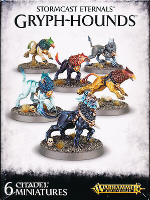 Warhammer Age Of Sigmar Storm Cast Eternals Gryph-Hounds Singles • 3.99£