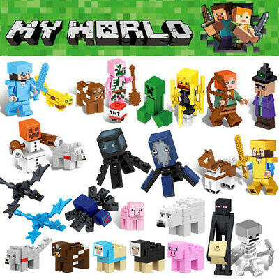 26Pcs Minecraft Blocks Figures Fit Building Characters World Mini My Series Lego • 15.99£