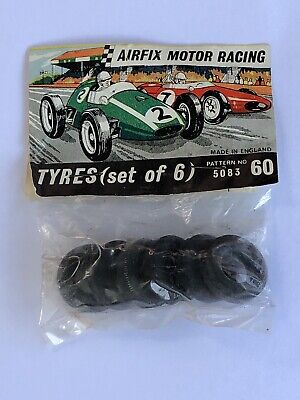 Airfix 5083/60 Tyres X 6,for Rear Of Vanwall Or Maserati • 7£