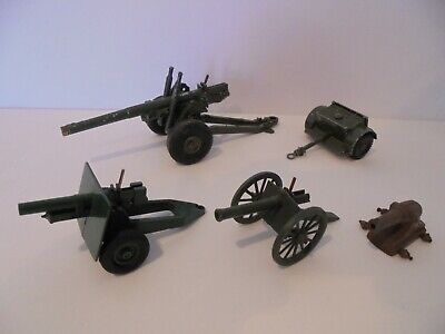 A Job Lot Of Vintage Die Cast Field Guns, Inc. Britains And Crescent • 5.50£