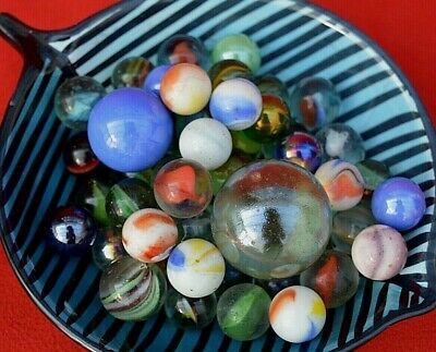 Set Of Over 50 Old Marbles - All Sizes & Colours!  • 8.95£