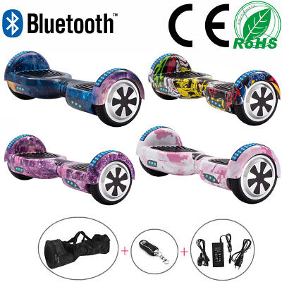 Hoverboard 6.5  Electric Scooters Bluetooth LED 2 Wheels Lights Balance Board • 119£