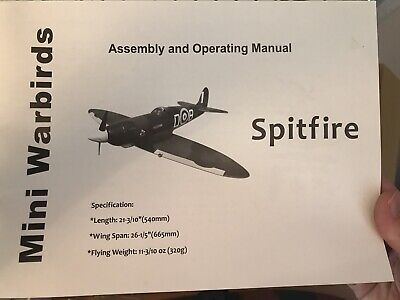 Remote Controled Plane Spitfire Partly Assembled Never Used • 26£
