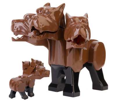 3 Headed Dog Fluffy Cerberus Minifigure MOC Compatible With LEGO & LEPIN Brands • 7.50£