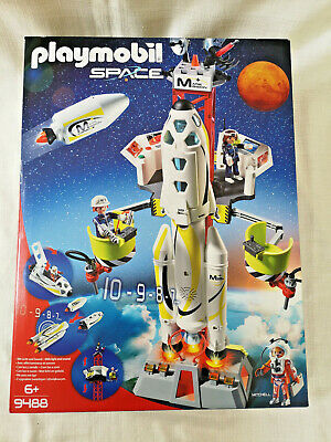 PLAYMOBIL 9488 Space Mission Rocket With Launch Site Lights And Sound BRAND NEW • 40£