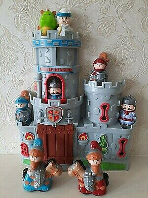 Kids Castle Medieval Playset Plus Knights,Soldiers,wizard,Dragon & King Figures • 12.99£