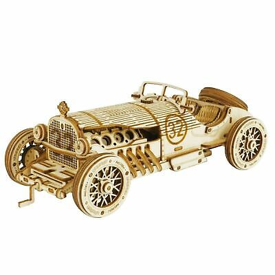 Rokr Wooden 3d Classical Grand Prix Car Scale Model Puzzle Kit MC401 • 28.99£