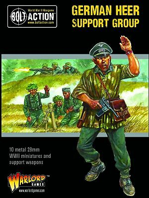 Warlord Games Bolt Action German Heer Support Group Metal Singles • 5.98£