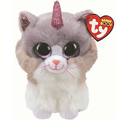 Ty Beanie Boos 36306 Asher The Grey Cat With Horn Boo Regular • 7.50£