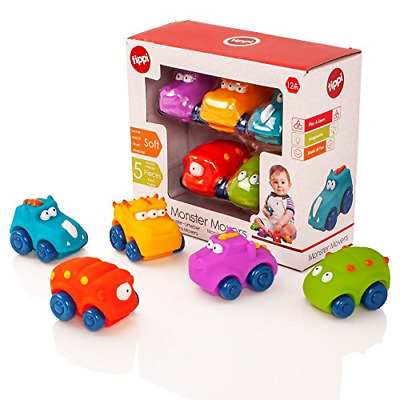 Tippi Monster Movers Soft Play Baby Toy Cars - Toy Car Set For 1 Year Old - Set • 15.44£
