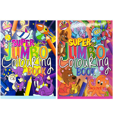 2 X KIDS A4 Super Jumbo Activity Colouring Book Books BOYS GIRLS OVER 300 PAGES • 4.89£