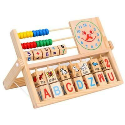 Wooden Abacus Counting Number Frame Learning Maths Kids Childs Educational Toy ^ • 9.89£
