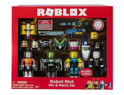 Roblox Robot Riot 4 Figure Pack Mix & Match Set Action Figure Toys Kids Gift • 8.59£