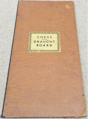 Chess And Draughts Vintage 1930s Game Board • 19.99£