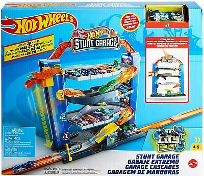 Hot Wheels City Stunt Garage Playset & Race Car GNL70 New Kids Xmas Toy Gift 4+ • 34.99£