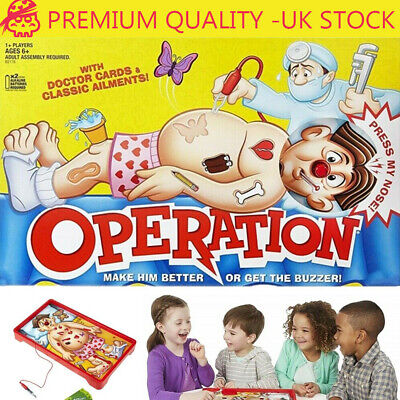 Operation Kids Family Classic Board Game Fun Childrens Xmas Gifts Toys UK HOT • 13.49£