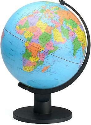 Educational World Globe With Swivel Stand 25cm Geography Learning • 23.99£