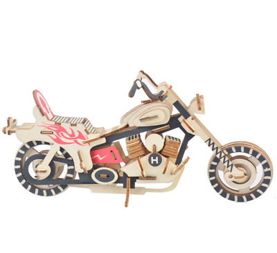 Wooden Harley Style Motorbike 3D Puzzle Toy • 11.99£