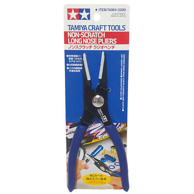 Tamiya 74065 Craft Tools Non-Scratch Long Nose Pliers For Model Making & RC • 23.99£