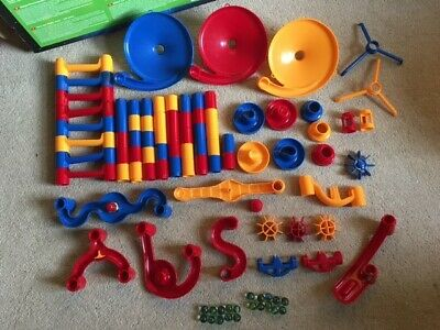 Galt Mega Marble Run Marbles Game - Boxed And In Great Condition (78 Pieces) • 15.95£