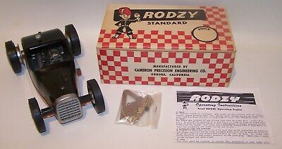 New In Box 1950's Rodzy Gas Powered Hot Rod Model Tether Car W/Extras • 234.64£