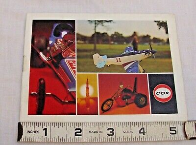COX TETHER CARS AND GAS AIRPLANES PRODUCT CATALOG 1970s • 11.53£