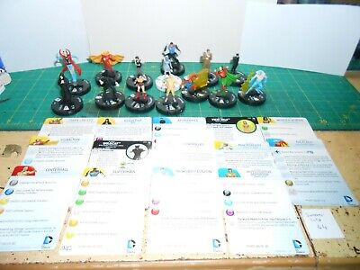 SL Lot 44 - Heroclix DC Lot 4 - 14 Figures With Cards • 5£