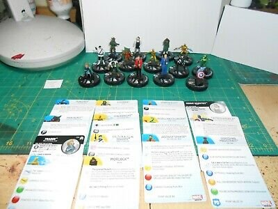SL Lot 39 - Heroclix Marvel Lot 2 - 14 Figures With Cards • 5£