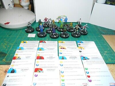 SL Lot 38 - Heroclix Marvel Lot 1 - 14 Figures With Cards • 5£