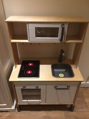 Kids Ikea Kitchen Wooden Play Kitchen With Lots Accessories Play Food Disney  • 4£