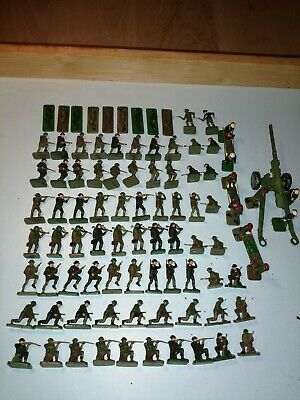 Airfix 1/72 WW2 British Infantry Over 90 Figures + 5.5  Howitzer • 4.20£