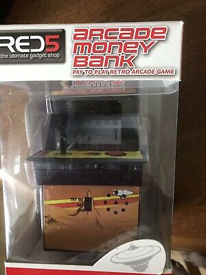 RED5 Retro Arcade Money Box BN • 7£