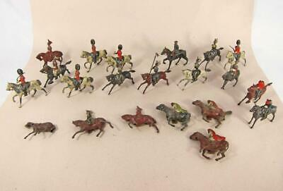 20 VINTAGE BRITAINS & OTHER CAVALRY HORSE TOY SOLDIER FIGURES Lead Die Cast • 29.99£