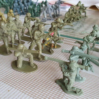 212pcs Plastic Toy Soldiers Axis And Allies Made In Hong Kong 1980s • 25£