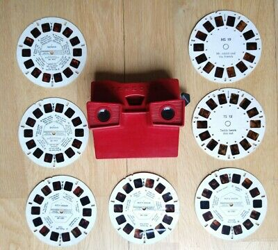 Stereobox Viewmaster Type Reel Viewer With Reels - Batman, Pete's Dragon (1980s) • 4.99£