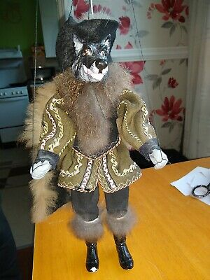 Wolf Marionette Puppet Hand Made Bought  In Prague  • 30£