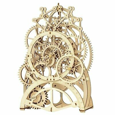 Robotime Wooden Pendulum Clock Laser-Cut Mechanical Gear 3D Model Puzzle • 49.99£