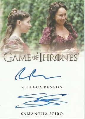 Game Of Thrones Complete Series - R Benson & S Spiro Dual Autograph Card • 24.99£