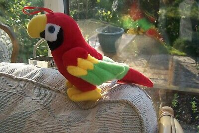 Soft Toy Parrot, From Lanzarote, Canary Islands • 4.50£