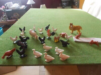 Vintage Plastic Farm Stock,26 Pieces, Unbranded,see List& Photos For Sizes • 5.50£
