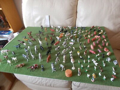 Job Lot Vintage Plastic Farm Stock,164 Pieces,some Cherilea Most Unbranded,list • 18.50£
